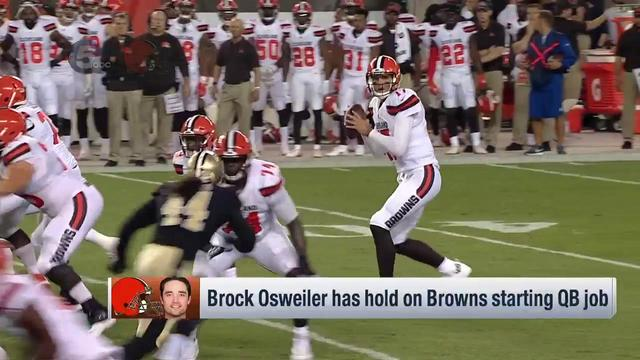 Ian Rapoport: Brock Osweiler has just one more hurdle left to being named Browns' starter