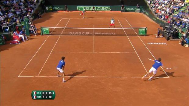 Tennis : Coupe Davis - Le double offre un bel avantage aux Bleus