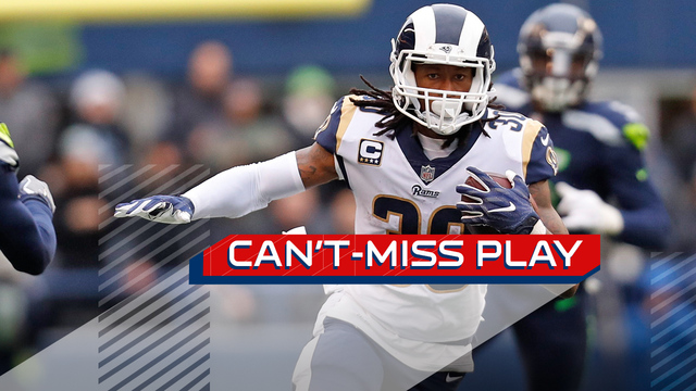 Can't-Miss Play: Los Angeles Rams running back Todd Gurley caps first-half hat-trick with 57-yard TD