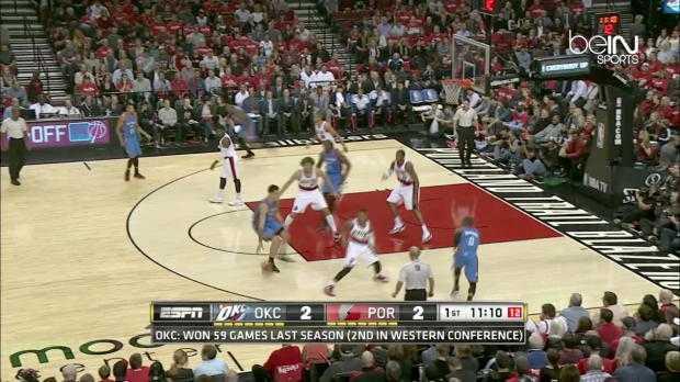 NBA : Thunder 89-106 Trail Blazers