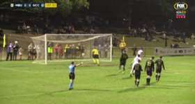 Sam Smith netted from the penalty spot to put Gold Coast City 1-0 up over Moreton Bay United.