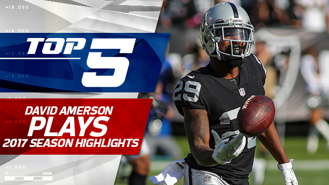Top 5 David Amerson plays | 2017 season