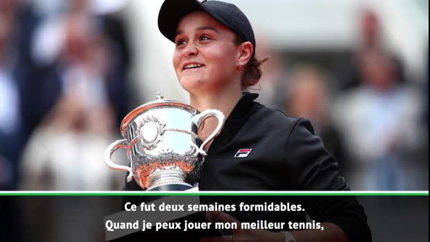 : Roland-Garros - Barty - 'Les étoiles étaient alignées'