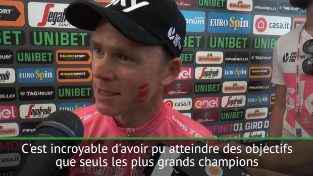 Giro 2018 - Froome 'honoré' d'être cité parmi les plus grands
