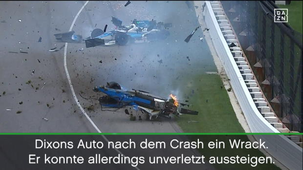 Indy500: Dixons Horror-Crash bei Sato-Sieg
