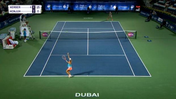 تنس: بطولة دبي: كيربر تهزم كونجو – 6-3 6-2