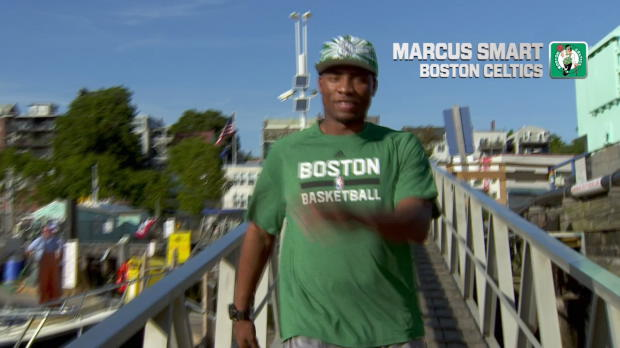 Marcus Smart on a Lobster Boat