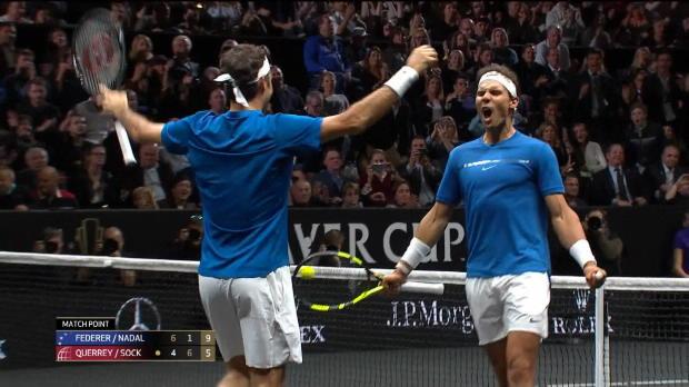 Tennis : Laver Cup - Federer et Nadal trop forts pour la paire Querrey - Sock