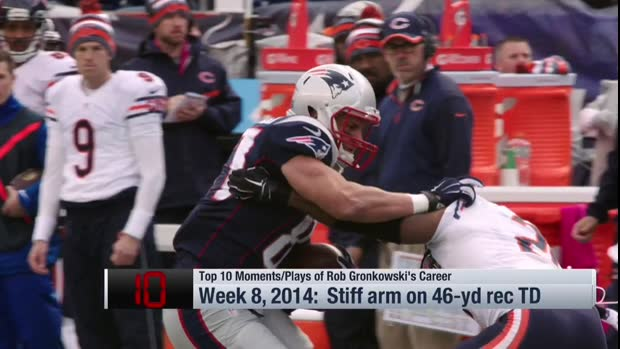 Top 10 moments of New England Patriots tight end Rob Gronkowski's career
