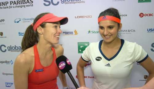 Hingis & Mirza Interview: WTA Singapore QF