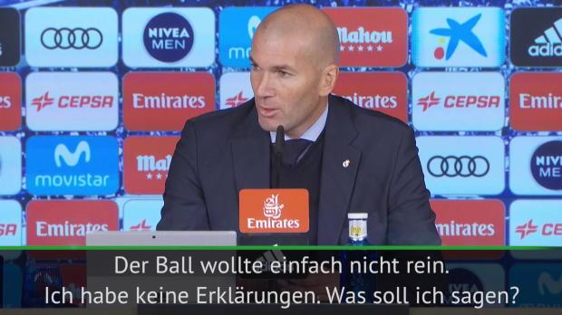 """Real-Krise: Zidane: """"Habe keine Erklärungen"""""""