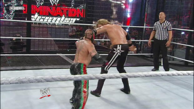 Edge retains the World Heavyweight Championship - Elimination Chamber Match: WWE Elimination Chamber 2011