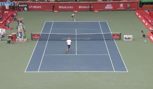 Tipsarevic Hot Shot: ATP Tokyo R2