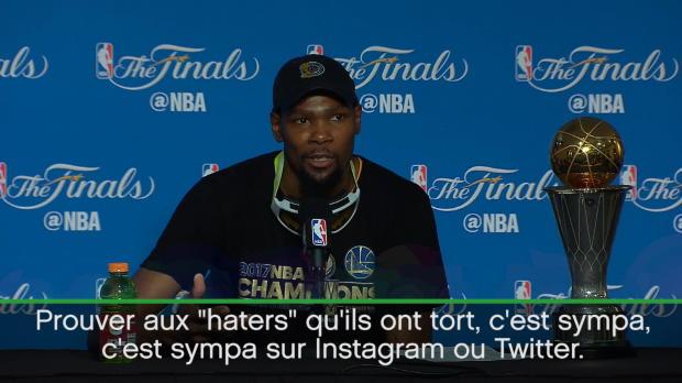 """Basket : Finales - Durant - """"Je voulais rendre cette équipe meilleure"""""""