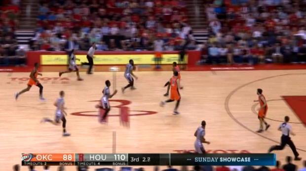 لقطة: كرة سلة: هاردن يسجل ثلاثية في الثانية الأخيرة من الربع الثالث