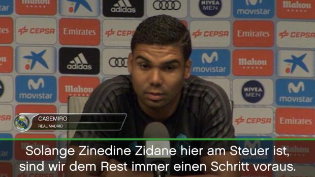 """Casemiro: """"Mit Zidane immer den Schritt voraus"""""""