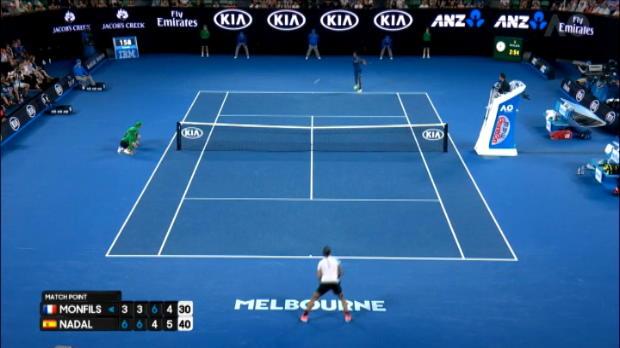 تنس: بطولة أستراليا المفتوحة: نادال يتخطّى مونفيس ويبلغ دور الثمانية