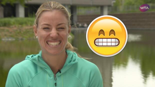 Smile! Kerber und Co. im Emoji-Mode
