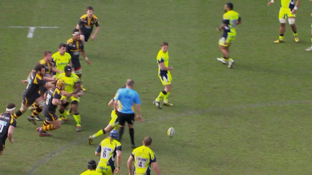 Aviva Premiership - Christian Wade scores a quality try against Sale Sharks