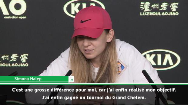 """Tennis : Open d'Australie - Halep - """"Maintenant, je suis une vraie N.1 mondiale"""""""