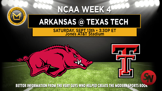Arkansas Razorbacks @ Texas Tech Red Raiders