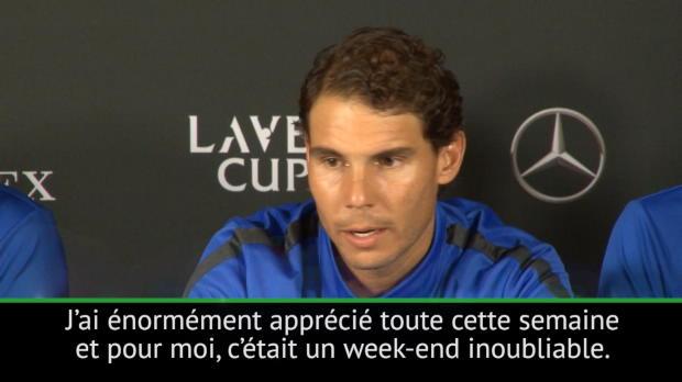 """Tennis : Laver Cup - Nadal - """"Un week-end inoubliable"""""""