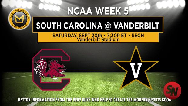 South Carolina Gamecocks @ Vanderbilt Commodores