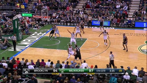 WSC: Giannis Antetokounmpo with 5 Blocks against the Nets