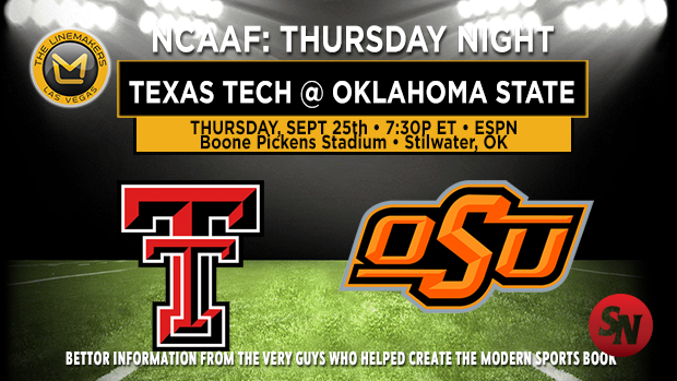 Texas Tech Red Raiders @ Oklahoma State Cowboys
