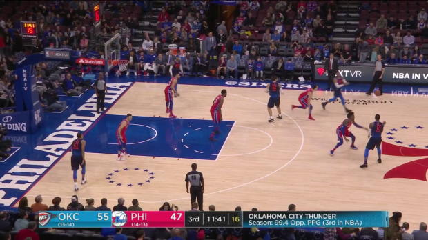 WSC: Russell Westbrook Posts 27 points, 15 assists & 18 rebounds vs. Philadelphia 76ers