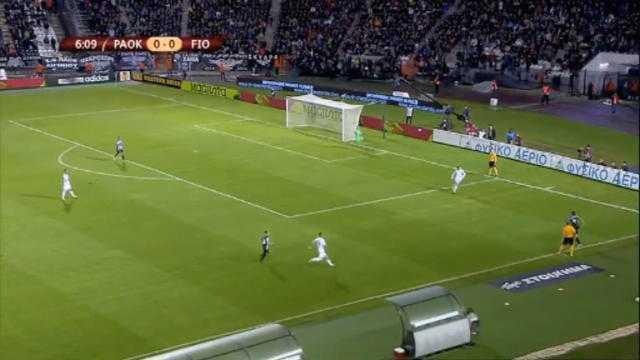 L.Europa : PAOK 0-1 Fiorentina