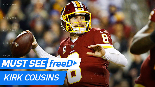 freeD: Kirk Cousins fakes hand-off, finds Josh Doctson for TD | Week 12