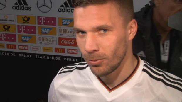 "Linker Fuß? Podolski dankt ""liebem Gott"""