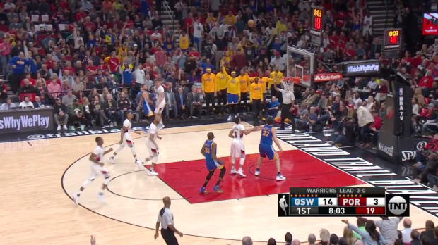 WSC: Stephen Curry 37 points vs the Trail Blazers