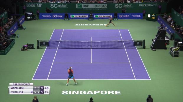 : TENNIS - WTA Finals - Masters - Svitolina bat Wozniacki et rejoint les demi-finales