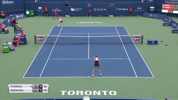 : Toronto - Wozniacki fait tomber Pliskova
