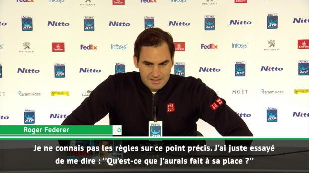 """Tennis : Masters - Federer - """"Audacieux de la part de Zverev d'arrêter l'échange"""""""