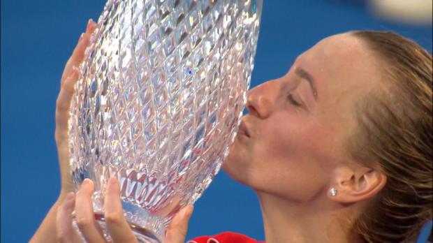 Tennis : Sydney - Kvitova titrée après un gros combat