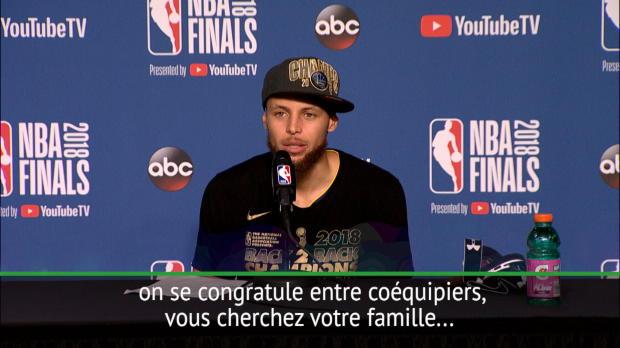 """Basket : Finale - Curry - """"On ne s'habitue jamais au fait d'être champion"""""""