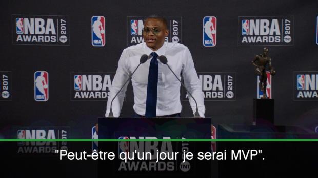 Basket : MVP - Westbrook a réalisé son rêve d'enfance