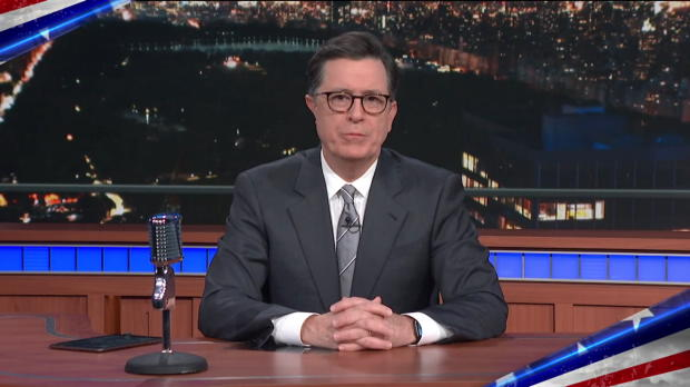 Stephen Colbert thanks U.S. servicemembers