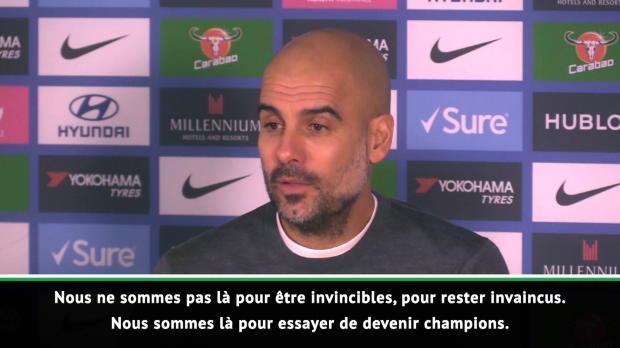 16e j. - Guardiola - 'Nous ne voulions pas rester invaincus mais juste être champions'
