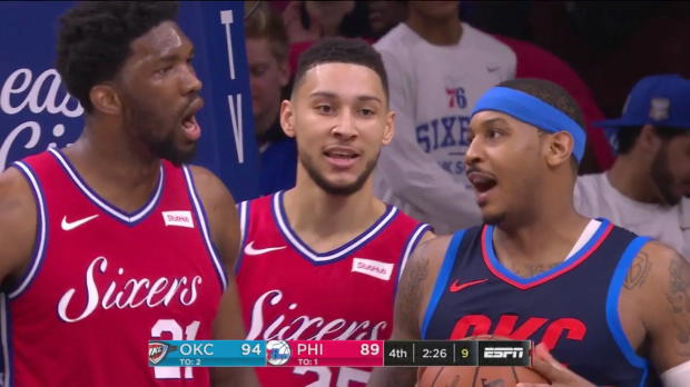 WSC: Joel Embiid (34 points) Highlights vs. Oklahoma City Thunder