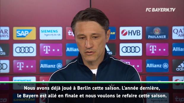 Coupe d'Allemagne - Kovac - 'Retourner en finale comme la saison dernière'