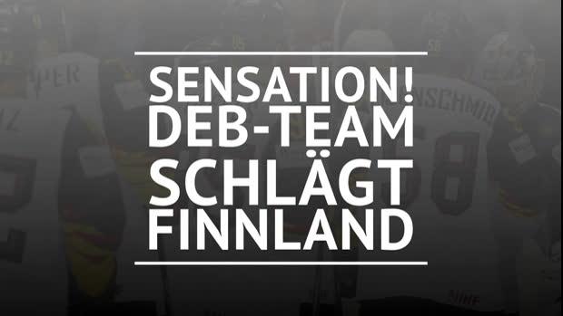 Eishockey: Sensation! DEB-Team schlägt Finnland