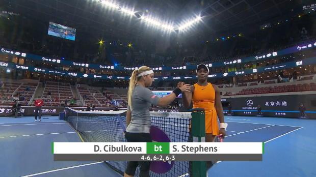 : Pékin - Cibulkova écarte Stephens