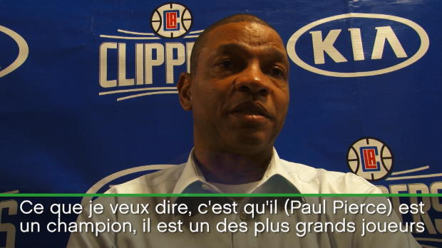 "Basket : NBA - Clippers - Rivers évoque ""l'héritage"" que va laisser Paul Pierce"