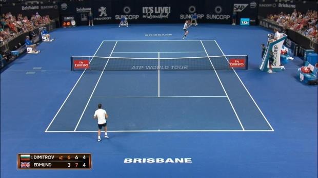 Brisbane: Sprung über Netz! Dimitrov hilft Gegner