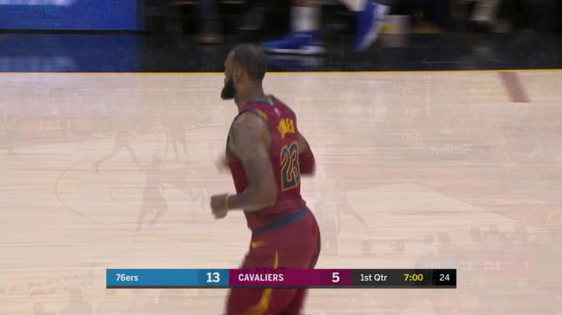 WSC: LeBron James Posts 30 points, 13 assists & 13 rebounds vs. Philadelphia 76ers