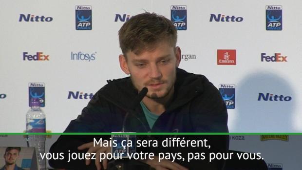 """Tennis : Masters - Goffin - """"Cette victoire me donne beaucoup de confiance pour la Coupe Davis"""""""